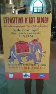 laon exposition d'art indien à la salle gotique
