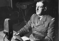 Le général de Gaulle au micro de la BBC à Londres